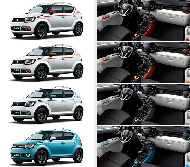 individualizace interiéru Suzuki Ignis