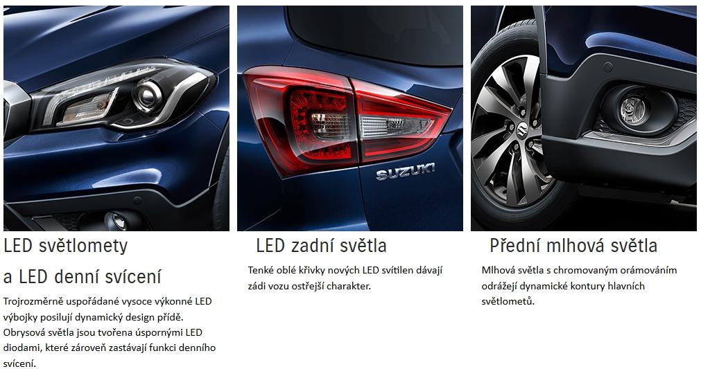 světlomety Suzuki S Cross